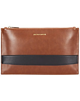 Smith & Canova Zip Top Hand Strap Clutch
