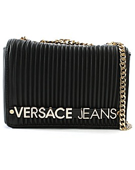 Versace Jeans Logo Quilted Shoulder Bag