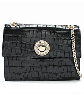 Versace Jeans Plaque Moc Croc Shoulder
