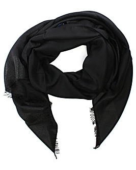 Armani Jeans Glitter Frayed Edge Scarf