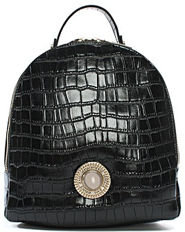 Versace Jeans Plaque Moc Croc Backpack