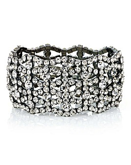 Mood Crystal Diamante Cut Out Bracelet