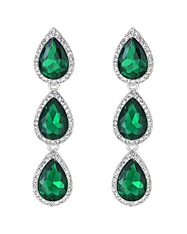Mood Green Crystal Peardrop Earring