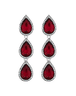 Mood Red Crystal Peardrop Earring