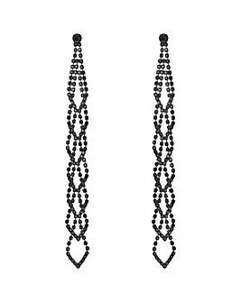 Mood Diamante Long Chandelier Earring