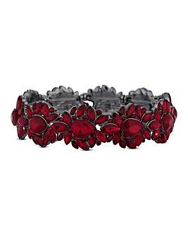 Mood Red Ornate Crystal Bracelet