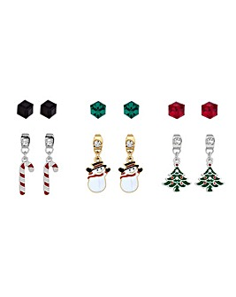 Mood Christmas Stud Earring Set