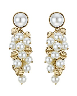 Mood Pearl And Bead Cluster Drop Earring