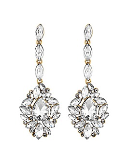 Mood Gold Ornate Crystal Drop Earring