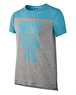 Nike Older Girls Mesh Just Do It T-Shirt