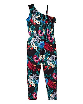 KD Girls One Shoulder Floral Jumpsuit
