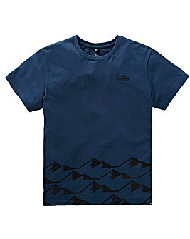 Snowdonia Mountain Print T-Shirt Long