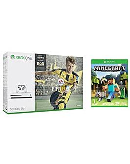 XBOX ONE FIFA 17 500GB + Minecraft