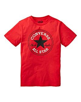 Converse Boys Red Logo T-Shirt