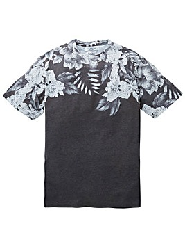 Label J Dark Floral Fade Tee Long