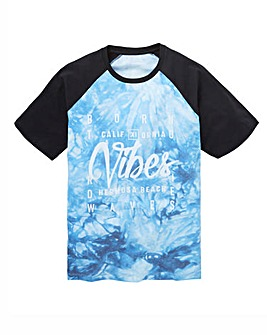 Label J Tie Dye Baseball Tee Regular