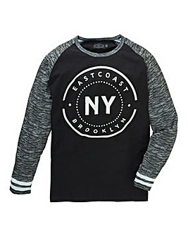 Label J Long Sleeve Baseball Tee Regular