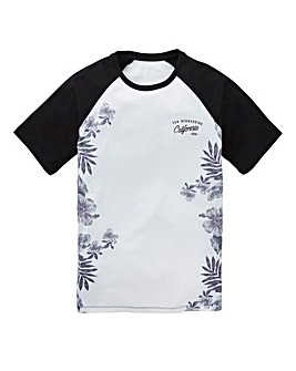 Label J Floral Fade Baseball Tee Regular