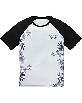 Label J Floral Fade Baseball Tee Long
