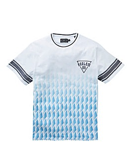 Label J Geo Print Sports Tee Long