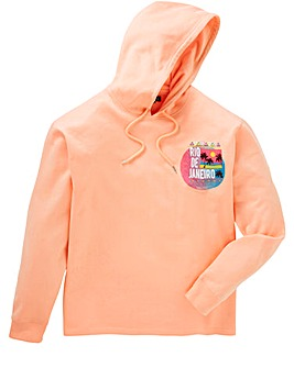 Label J Miami Print Hoody Long