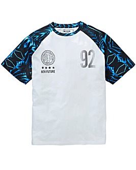 Label J Sporty Print Raglan Tee Regular