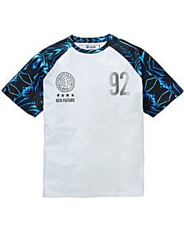 Label J Sporty Print Raglan Tee Long
