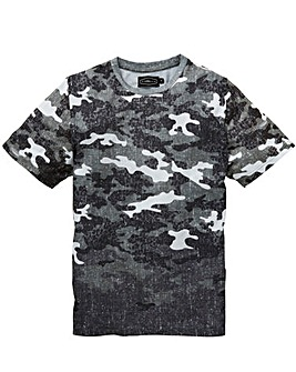 Label J Camo Print Tee Long