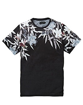Label J Floral Shoulder Print Tee