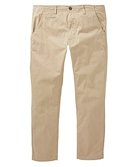 Jacamo Sand Stretch Tapered Chino 33in