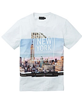 Label J NYC Print Tee Long