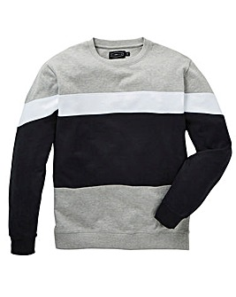 Label J Cut and Sew Crew Sweat Long