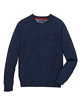 Farah Jeans Cotton Crew Neck Jumper