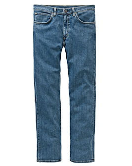 Lee Brooklyn Straight Stonewash Jn 34 In