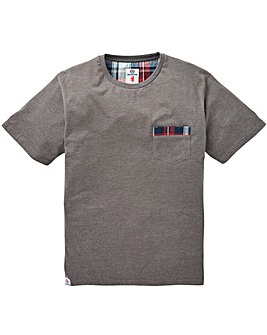 Lambretta Check Tip Pocket T-Shirt Reg