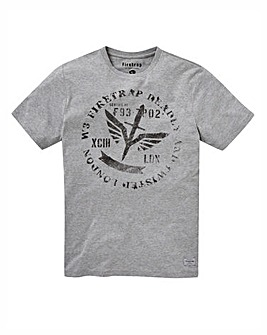 Firetrap Stamped T-Shirt Long