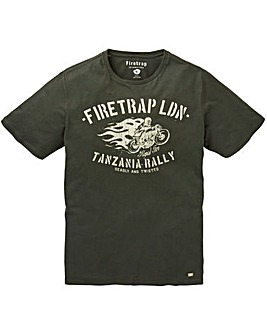 Firetrap Leo T-Shirt Long