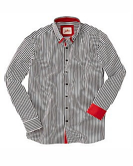 Joe Browns Cool Collar Stripe Shirt Reg