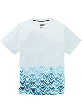 Jacamo Waving Graphic T-Shirt Long