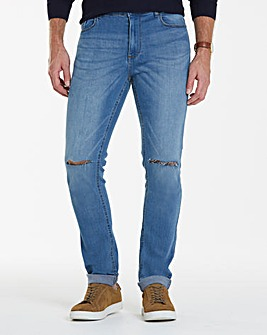 Label J Rip Knee Skinny Jean Long