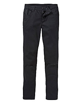 Label J Rip Knee Skinny Jeans 33in Leg