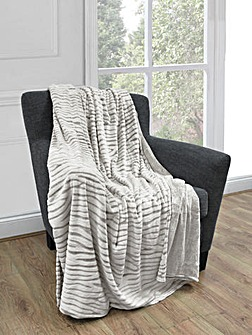 Cascade home carved mink throw