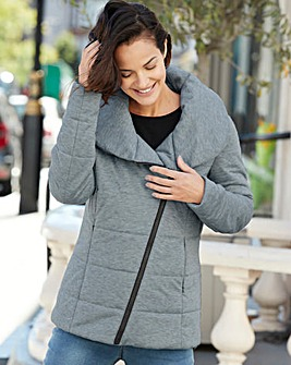 COWL NECK PADDED JACKET