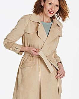 Longline Suedette Mac Coat