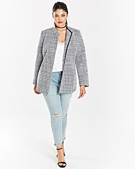 Tweed Belted Wrap Jacket