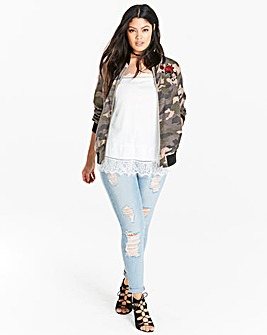 Soft Touch Camoflauge Bomber Jacket