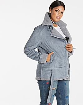 AVIATOR BORG LINED COAT
