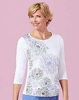 Placement Print T Shirt