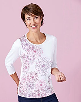 Placement Print T Shirt