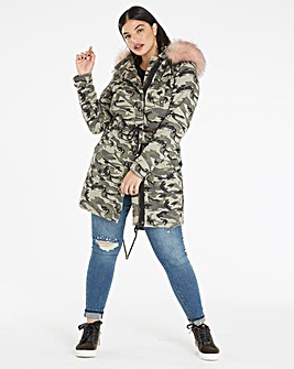 Camoflauge Cotton Parka